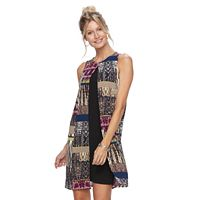 Petite Suite 7 Animal Patchwork Flyaway Shift Dress