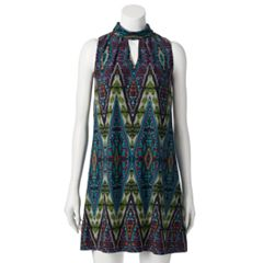 Petite Suite 7 Litebright Tile Mockneck Shift Dress