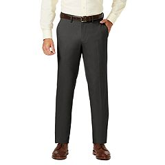 Men's J.M. Haggar Premium Straight-Fit Stretch Sharkskin Flat-Front Dress Pants