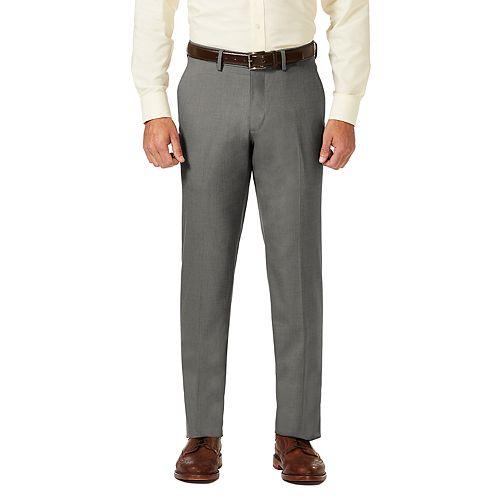 Men's J.M. Haggar Premium Straight-Fit Stretch Sharkskin Flat-Front Dress Pants