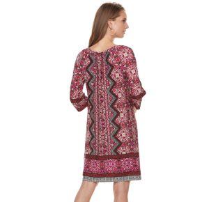 Petite Suite 7 Geometric Print Shift Dress