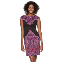 Petite Suite 7 Paisley Sheath Dress