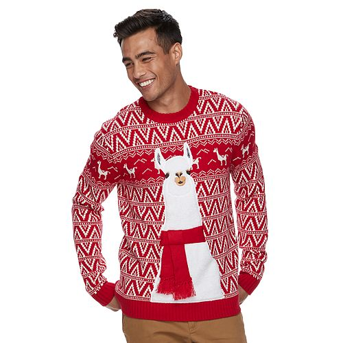 Llama Christmas Sweater.Men S Llama Ugly Christmas Sweater