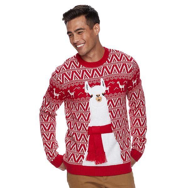 Men's Llama Ugly Christmas Sweater