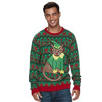 Men's Elf Cat Ugly Christmas Sweater