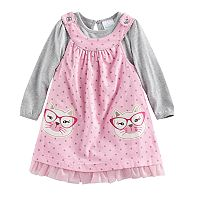 Baby Girl Nannette Cat Jumper & Bodysuit Set