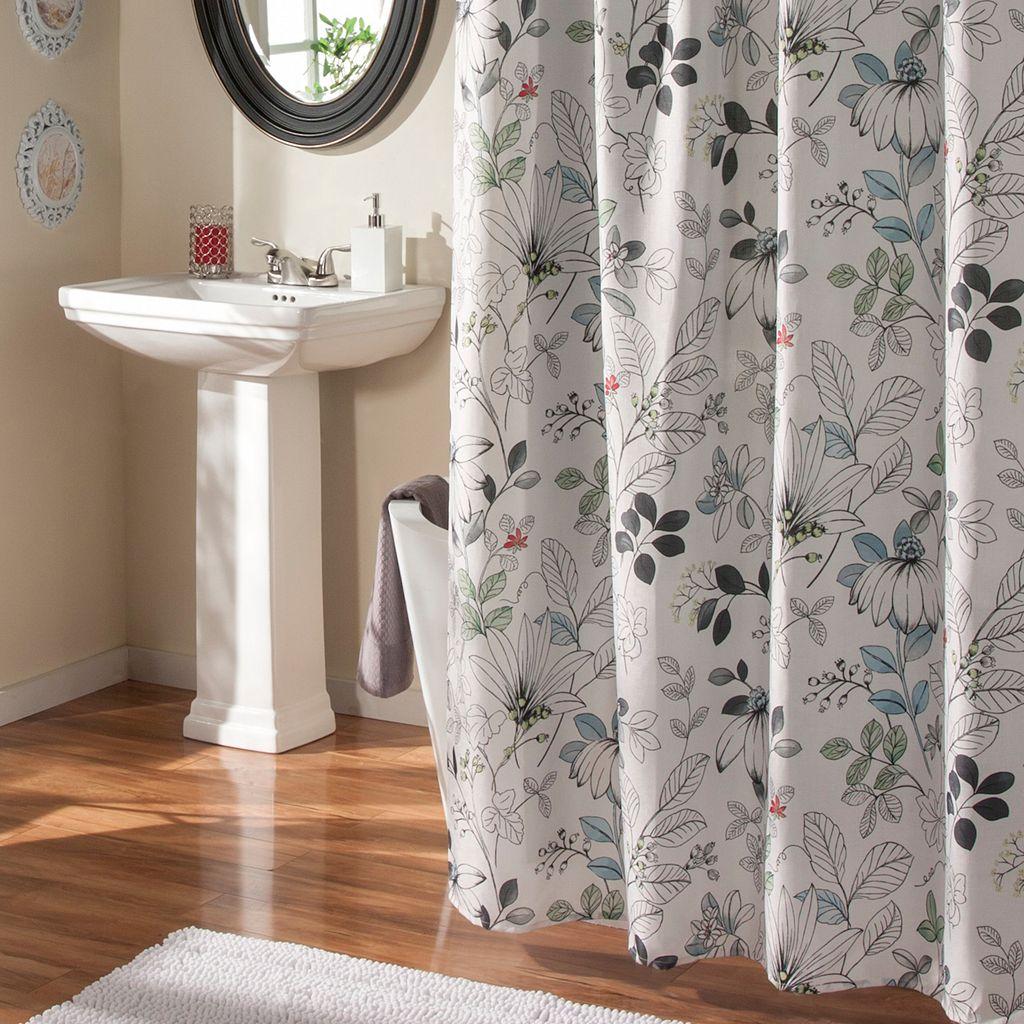 M. Style Sketchbook Floral Shower Curtain