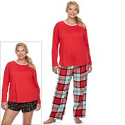 Juniors' Plus Size SO® Pajamas: Flannel Pants, Shorts & Top 3 pc PJ Set