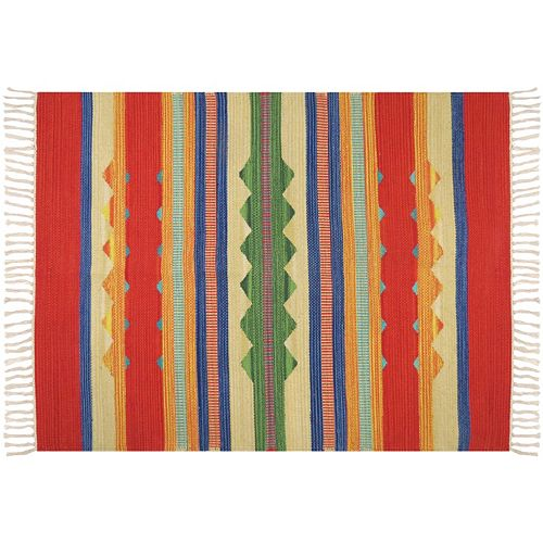 Park B. Smith Global Dhurrie Myanmar Tribal Reversible Rug