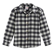 Toddler Boy Jumping Beans® Plaid Flannel Button Down Top