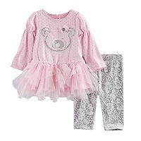 Baby Girl Nannette Bear Tunic & Leggings Set