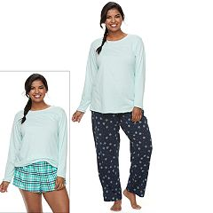 Juniors' Plus Size SO® Pajamas: Knit Pants, Shorts & Top 3-Piece PJ Set