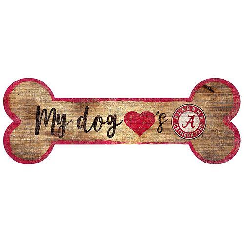 Alabama Crimson Tide Dog Bone Wall Sign