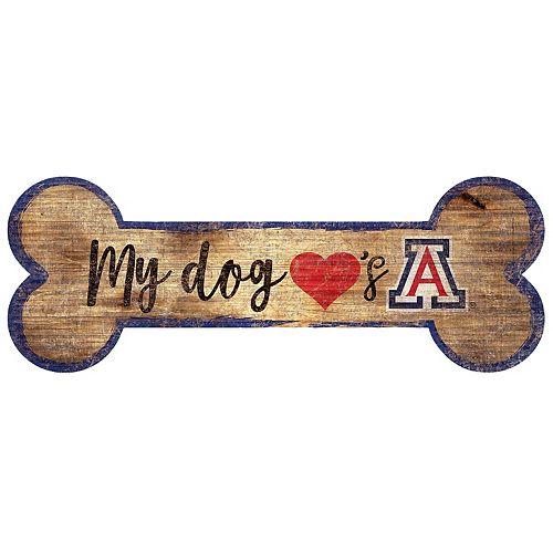 Arizona Wildcats Dog Bone Wall Sign