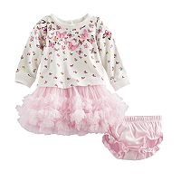 Baby Girl Nannette Butterfly Dress & Bloomers Set