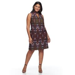Plus Size Suite 7 Geometric Shift Dress