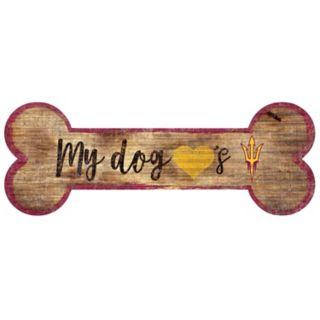 Arizona State Sun Devils Dog Bone Wall Sign
