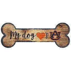 Auburn Tigers Dog Bone Wall Sign