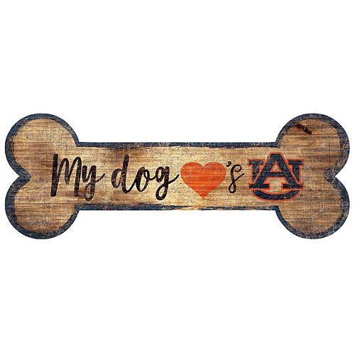 Auburn Tigers Dog Bone Wall Sign