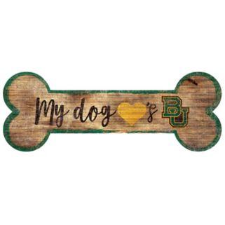 Baylor Bears Dog Bone Wall Sign