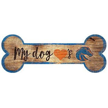 Boise State Broncos Dog Bone Wall Sign