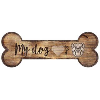 Butler Bulldogs Dog Bone Wall Sign