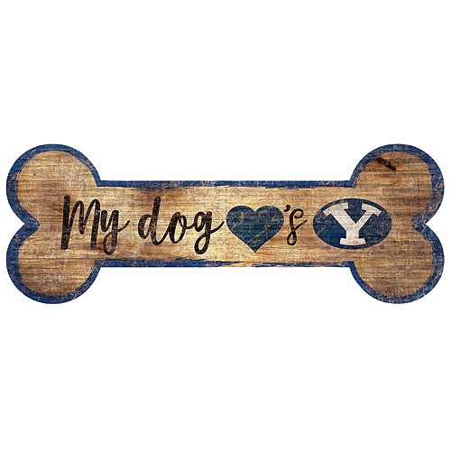 BYU Cougars Dog Bone Wall Sign