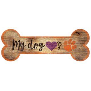Clemson Tigers Dog Bone Wall Sign