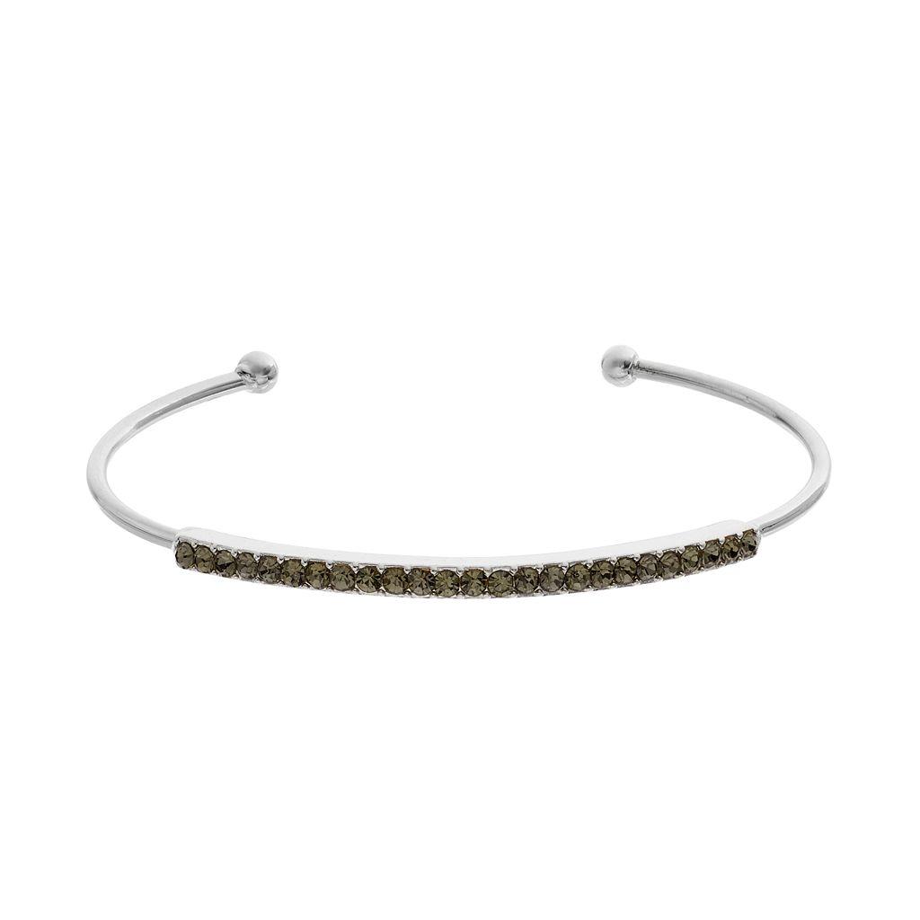 Gray Pave Cuff Bracelet