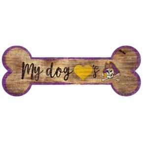 East Carolina Pirates Dog Bone Wall Sign
