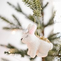 LC Lauren Conrad Royal Rabbit Christmas Ornament