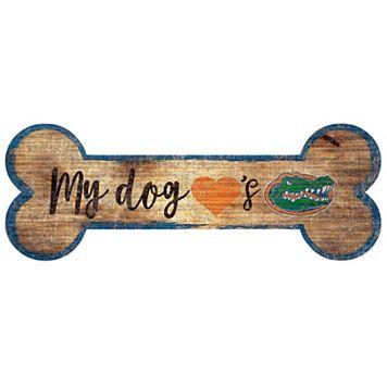 Florida Gators Dog Bone Wall Sign