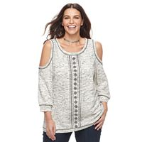 Plus Size Kate and Sam Cold-Shoulder Top