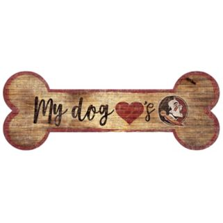 Florida State Seminoles Dog Bone Wall Sign