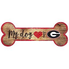 Georgia Bulldogs Dog Bone Wall Sign