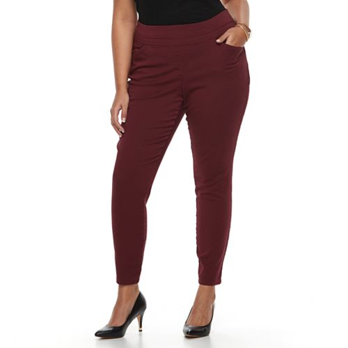 Plus Size Kate and Sam Super Stretch Pull-On Pants