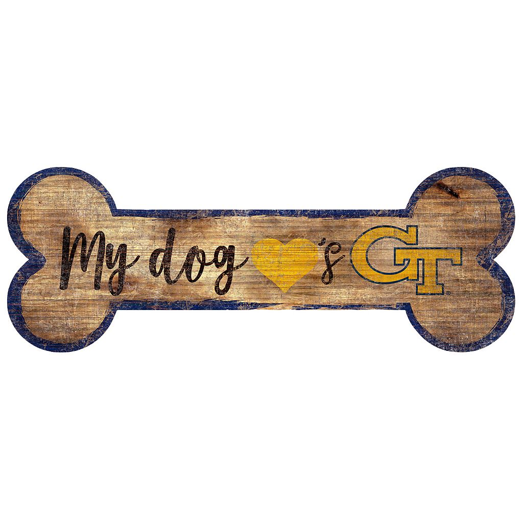 Georgia Tech Yellow Jackets Dog Bone Wall Sign
