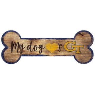 Georgia Tech Yellow Jackets Dog Bone Wall Sign