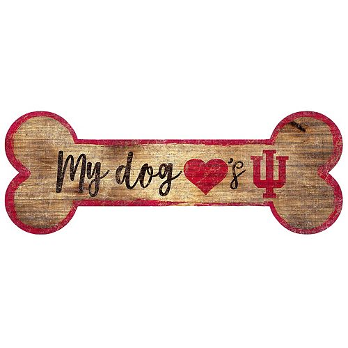 Indiana Hoosiers Dog Bone Wall Sign