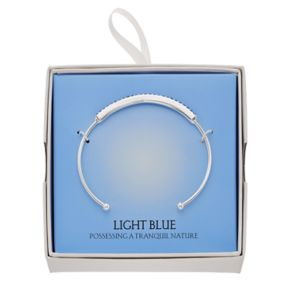 Simulated Blue Sapphire Cuff Bracelet