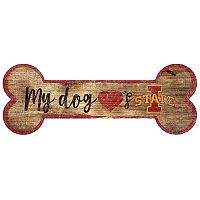 Iowa State Cyclones Dog Bone Wall Sign