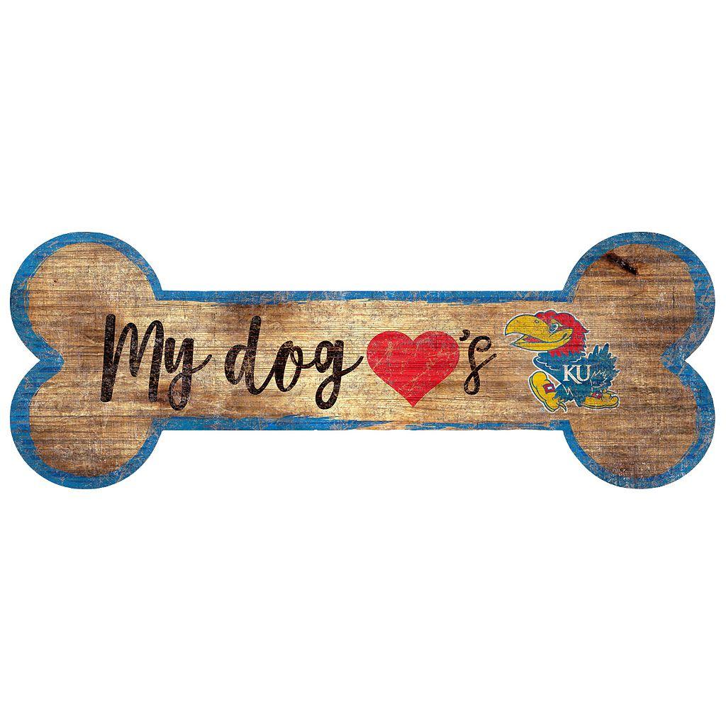 Kansas Jayhawks Dog Bone Wall Sign