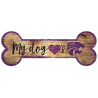 Kansas State Wildcats Dog Bone Wall Sign