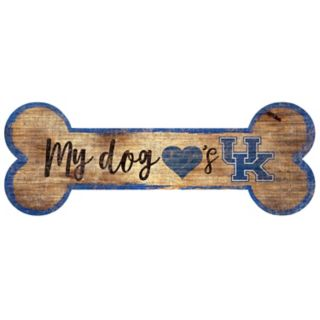 Kentucky Wildcats Dog Bone Wall Sign