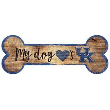 Kentucky Wildcats Dog Bone Wall Sign