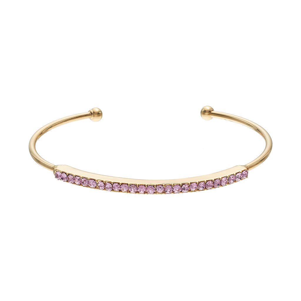 Pink Pave Cuff Bracelet