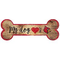Louisville Cardinals Dog Bone Wall Sign