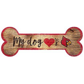 Louisville Cardinals Dog Bone Wall Sign