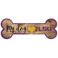LSU Tigers Dog Bone Wall Sign