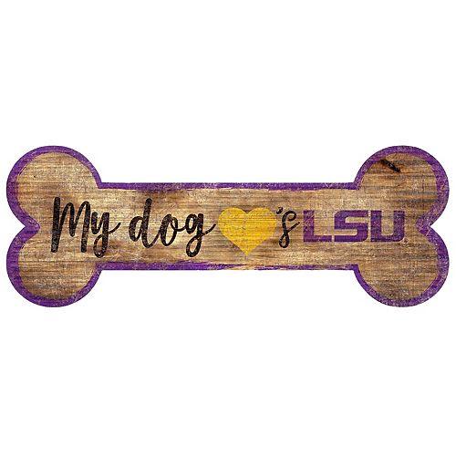 LSU Tigers Dog Bone Wall Sign